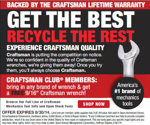 Craftsman Wrench Trade-In